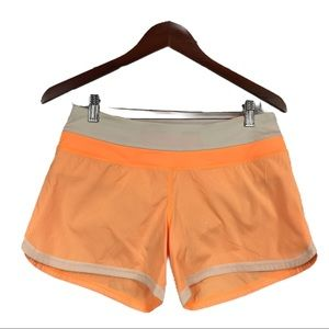Lululemon Groovy Run Shorts- Creamsicle Gingham, 6